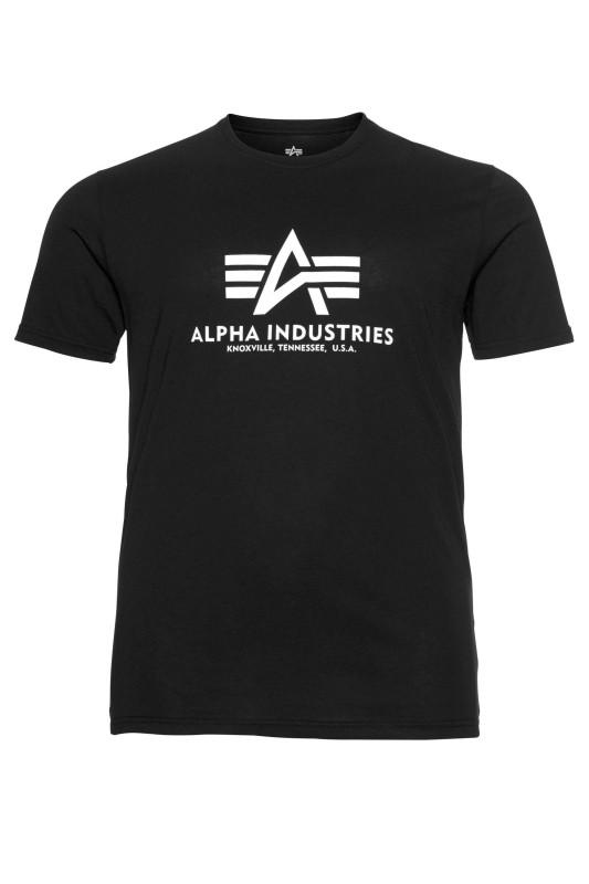 "ALPHA INDUSTRIES Herren T-Shirt - ""BASIC T-SHIRT black"""