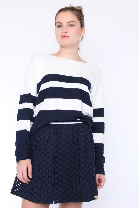"""FREEQUENT Damen Pullover - """"Lio Pullover Stripe offwhite"""""""