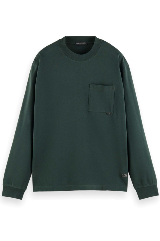 "SCOTCH & SODA Herren Sweatshirt - ""Organic Cotton Jersey LS tee"""