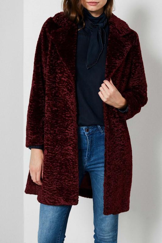 """PETROL Damen Mantel - """"Fake Fur Jacket"""""""