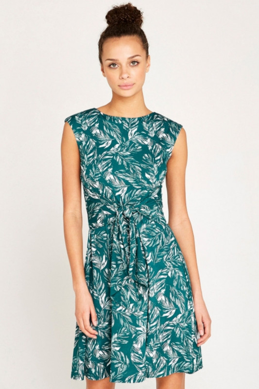 "APRICOT Damen Kleid - ""Feather Leaf Print"""