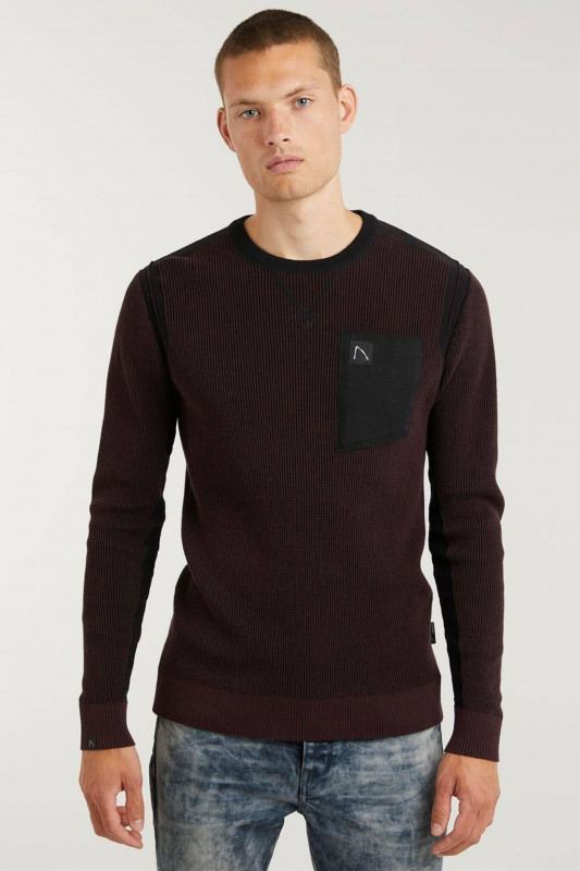 "CHASIN' Herren Sweater - ""Unsenny Sweat burgundy"""