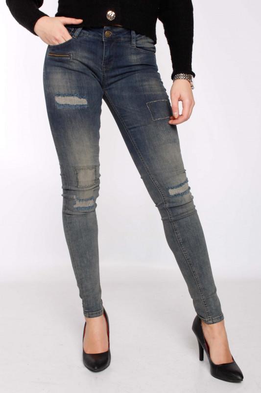 "ZHRILL Damen Jeans - ""Mia Street Blue W-783"""