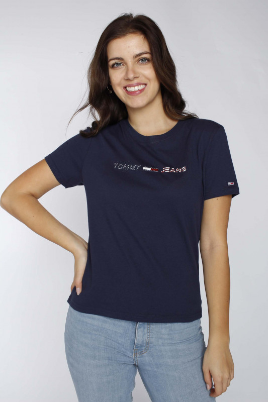 "TOMMY HILFIGER Damen T-Shirt - ""Americana Logo Tee twilight"""