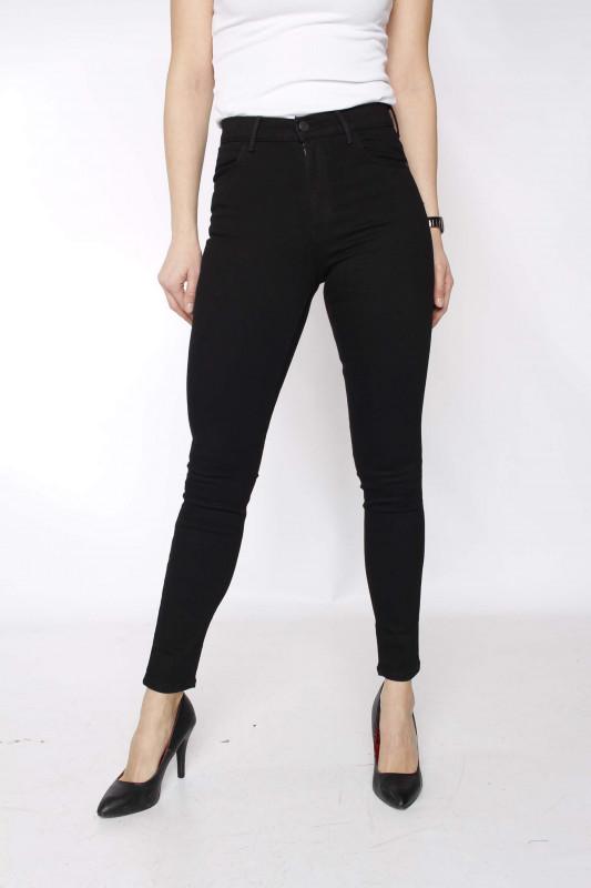 "WRANGLER Damen Jeans - ""High rise skinny rinsewash black"""