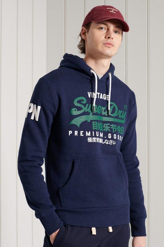 "Superdry Herren Sweatshirt - ""VL NS HOOD MIDNIGHT BLUE GRIT"""