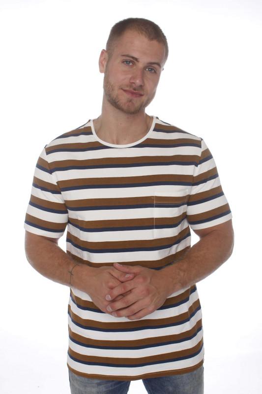 "CIRCLE OF TRUST Herren T-Shirt - ""Arne Tee dark caramel"""