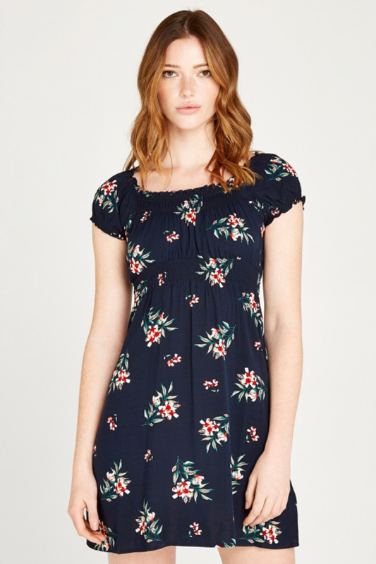 "APRICOT Damen Kleid - ""NAVY FLORAL BUNCHES MILKMAID DRESS"""