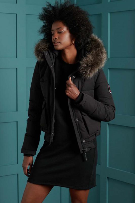 "Superdry Damen Wintermantel ""Everest Bomber Jacket black"""
