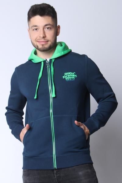 "PETROL Herren Softshelljacke - ""Sweater Hood dark turquoise"""