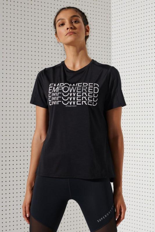 """Superdry Damen T-Shirt - """"Training Tech Touch T-Shirt black"""""""