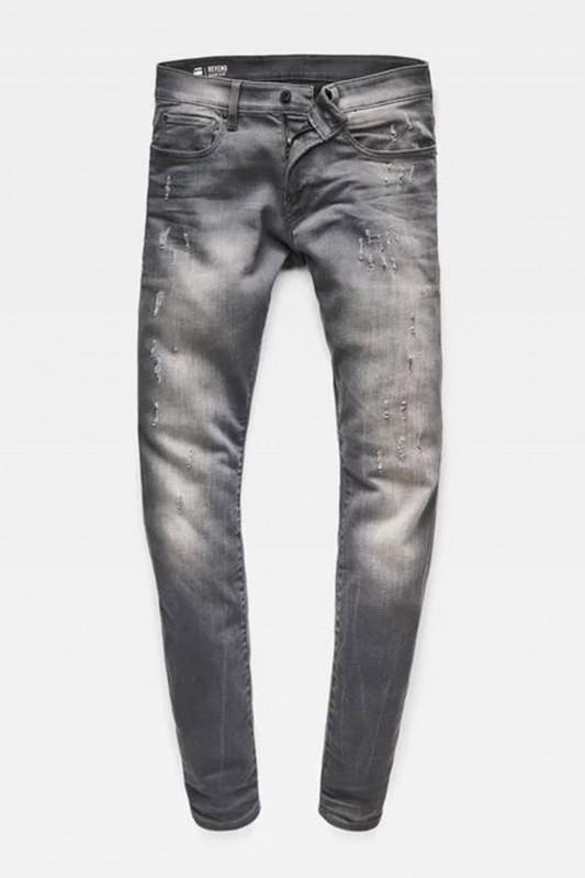 "G-STAR RAW Herren Jeans - ""Revend SS Denim lt aged destroyed"""