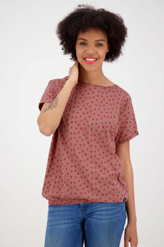 "ALIFE AND KICKIN Damen T-Shirt - ""SUN AK shirt mahagonium"""