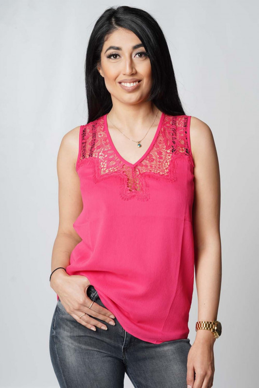 "Guess Damen Top - ""SL Miriam Top souvenir pink"""
