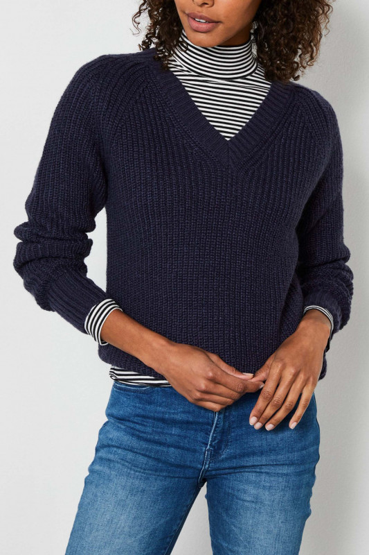 "PETROL Damen Pullover - ""Knitwear deep navy"""