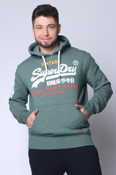 """SUPERDRY Herren Sweatshirt - """"Sweat Shirt Hood cloverfield grit"""""""