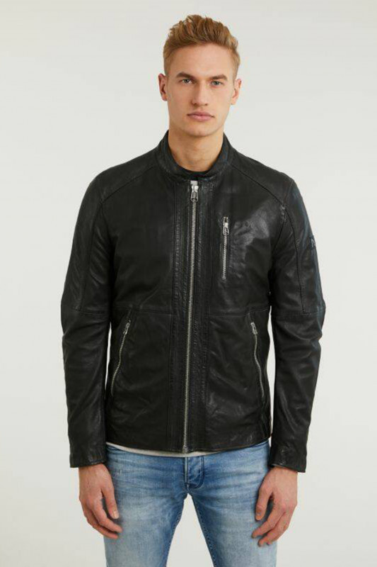 "CHASIN Herren Lederjacke - ""Tiago City Jacket black"""
