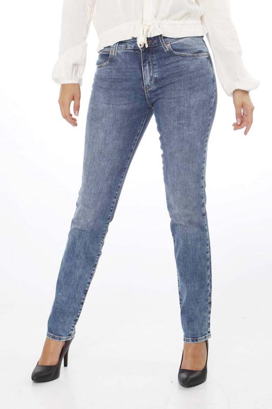 """WRANGLER Damen Jeans - """"Straight water blue"""""""