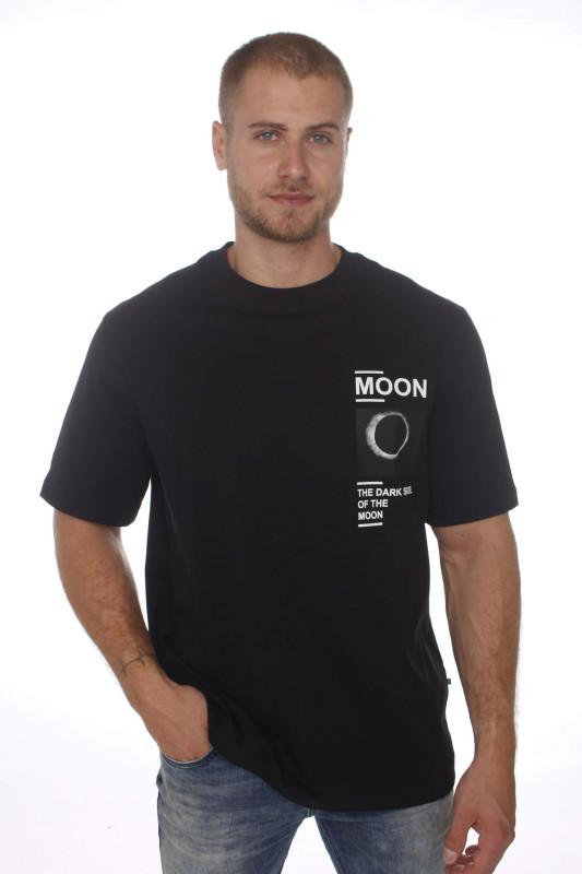 """Samsoe & Samsoe Herren T-Shirt - """"Moon shirt col.11414 black"""""""