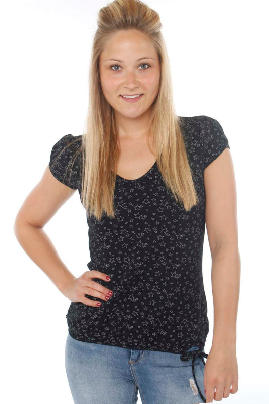 "STRANGE Damen T-Shirt - ""ILI 3 SS black / grey stars"""