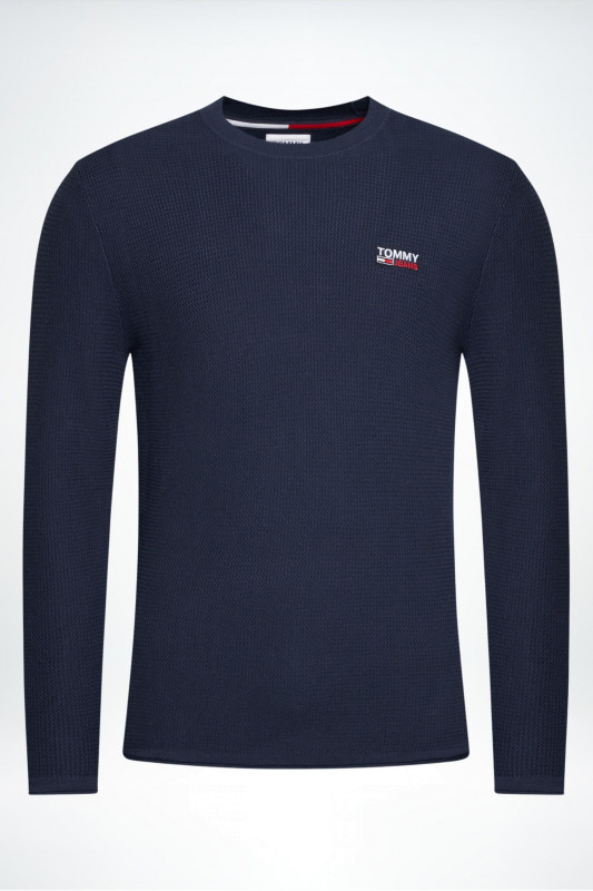 "TOMMY HILFIGER Herren Sweatshirt - ""Corp Logo Sweater twilight navy"""