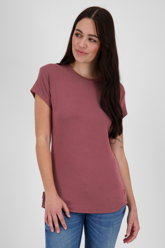 "ALIFE AND KICKIN Damen T-Shirt - ""Mimmy Shirt grape"""