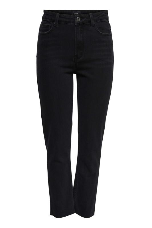 "ONLY Damen Jeans - ""Lemily hw st raw MAE004 black"""