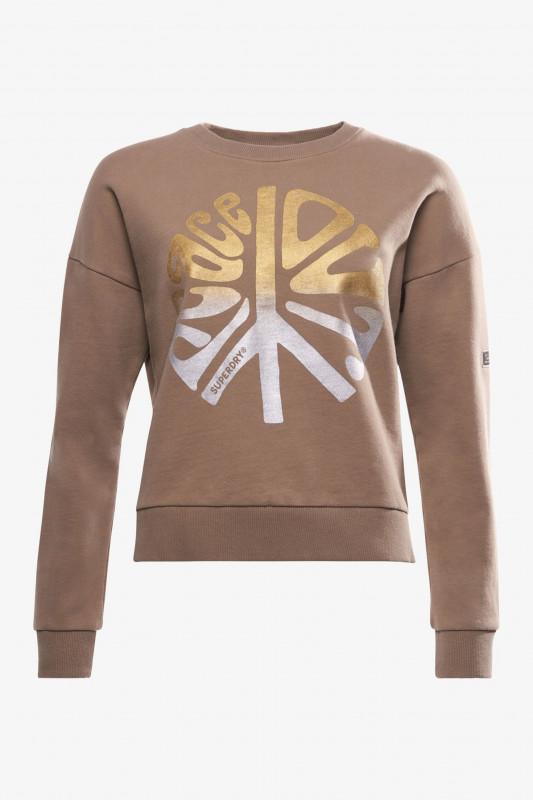 "Superdry Damen Sweatshirt ""MILITARY NARRATIVE SWEAT F.TAUPE"""