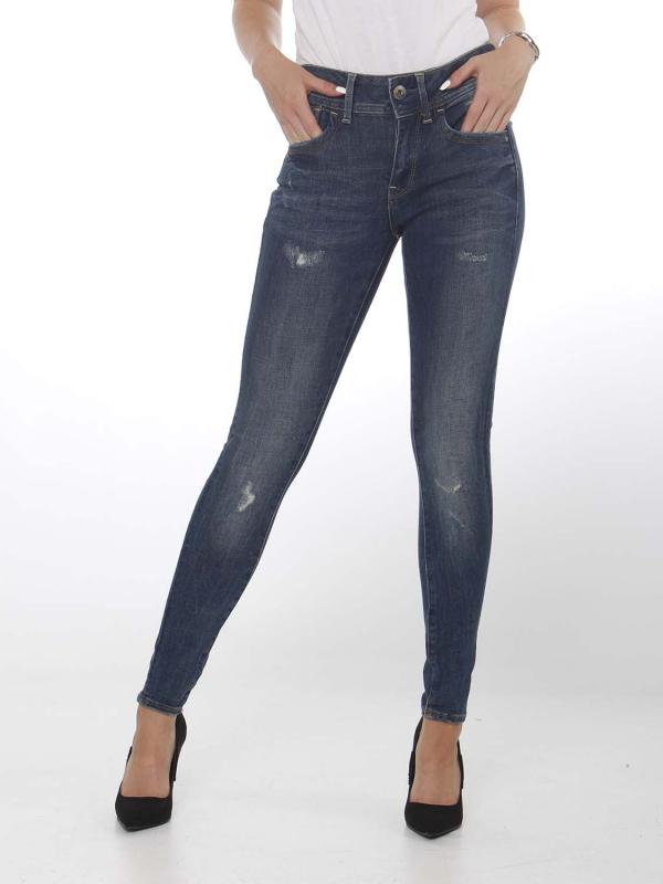 "G-Star Raw Damen Jeans - ""Lynn mid super skny faded blue"""