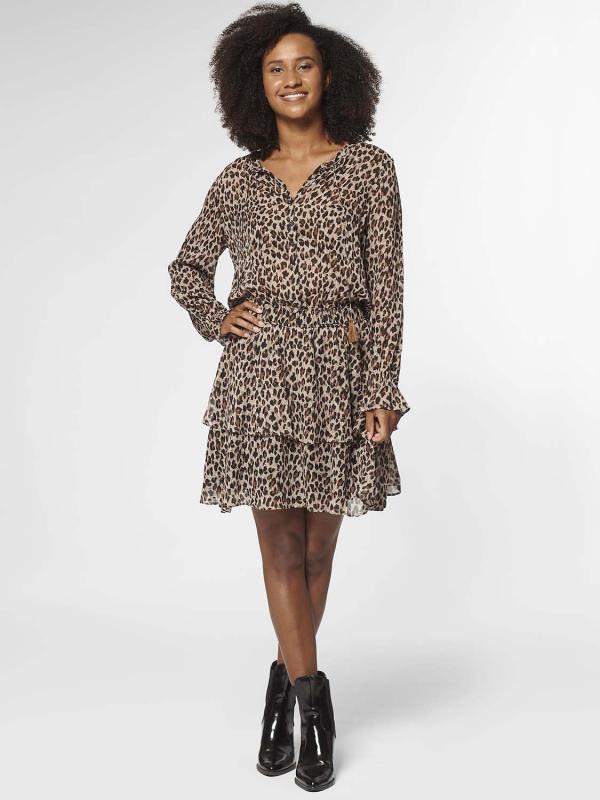 "Circle of Trust Damen Kleid - ""Gaby Dress LS leopard"""