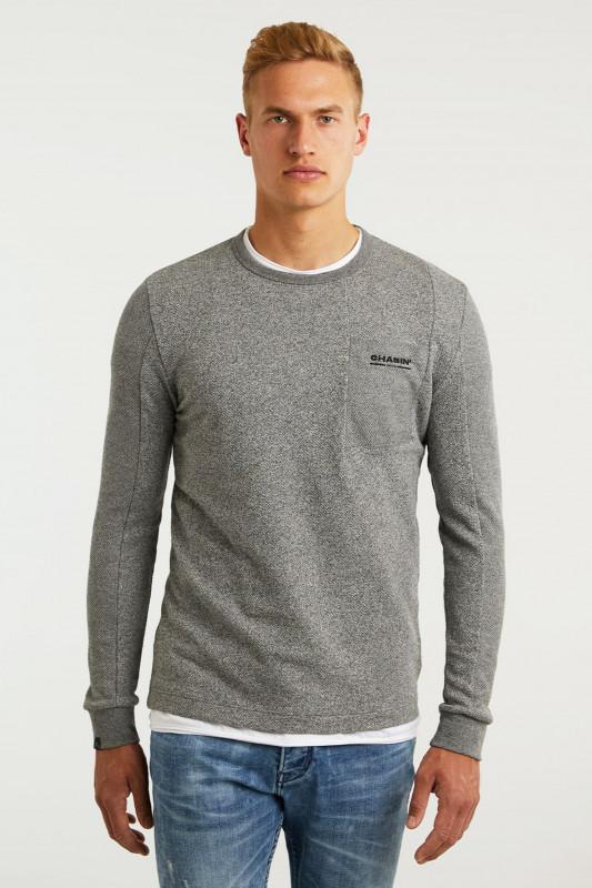 "CHASIN Herren Longsleeve - ""Fibre Shirt LS lgrey"""
