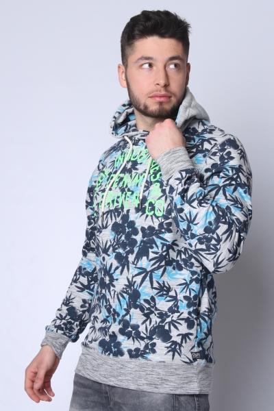 "PETROL Herren Sweatshirt - ""Sweater Hooded dark turquoise"""