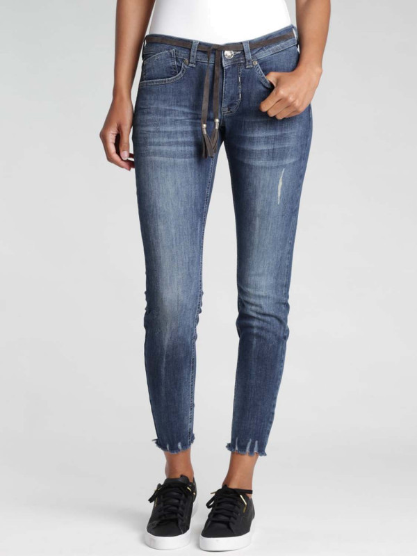 Gang Faye Skinny Fit Jeans mit Gürtel strom vintage