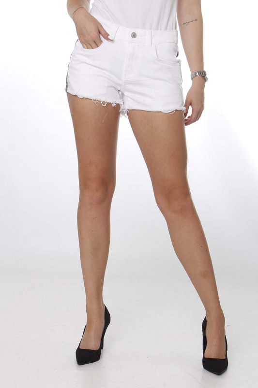 "LTB Damen Shorts ""Pamela white snake wash"""