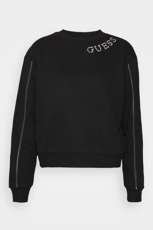 "GUESS Damen Sweatshirt - ""Gurli fleece jet black"""
