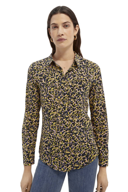 "SCOTCH & SODA Damen Bluse - ""Printed reg fit shirt origanic"""