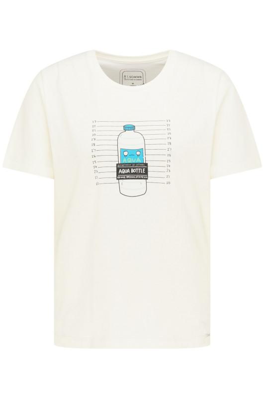 "\SOMWR Damen T-Shirt - ""Seized Aqua Bottle Tee white"""