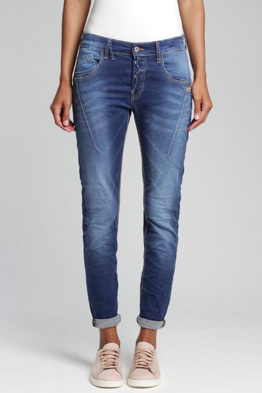"Gang Damen Jeans - ""New Georgina Slim Fit Deep Crotch Jeans vivd blue"""
