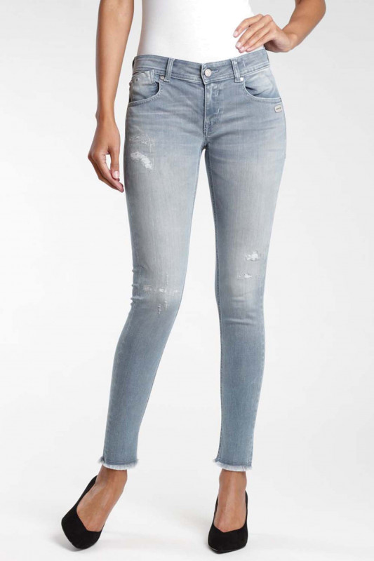 "GANG Damen Jeans - ""Faye Skinny Fit lunar destroy wash"""