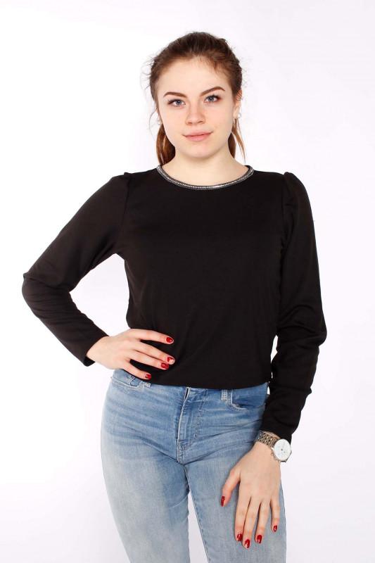 ONLY Damen Top - Brilliant L/S Chain Top black