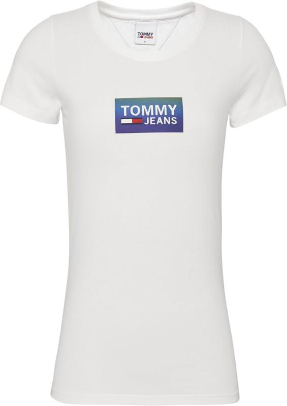 """TOMMY HILFIGER Damen T-Shirt - """"Gradient Logo Tee white"""""""