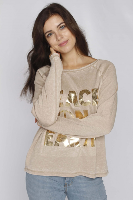 "GRACE Damen Sweatshirt - ""Sweatshirt Peace on Earth sa"""