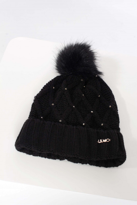 """LIU JO Damen Mütze - """"Cappello Maglia nero"""""""