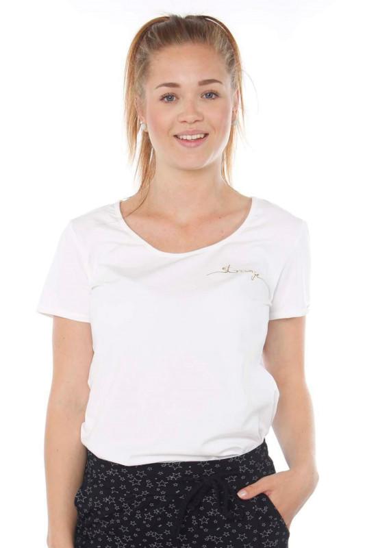 "STRANGE Damen T-Shirt - ""JULIANE white & gold"""