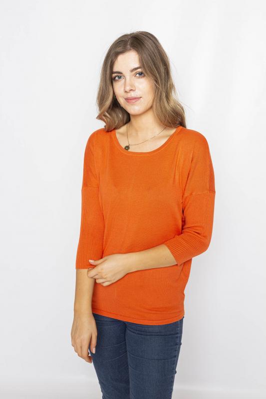 "FREEQUENT Damen Pullover - ""JONE red orange"""
