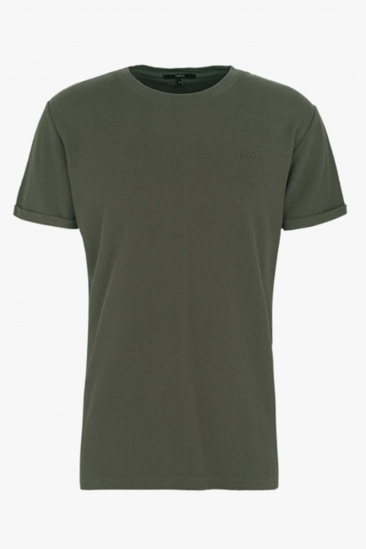 "TIGHA Herren T-Shirt - ""Dai waffle ocean grey"""