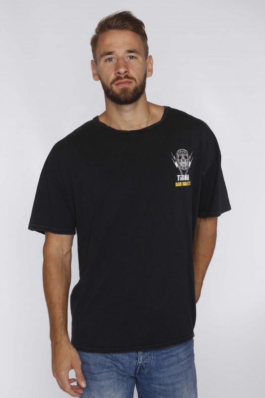 """Tigha Herren T-shirt """"Abstract Skull Arne; Vintage Black"""""""