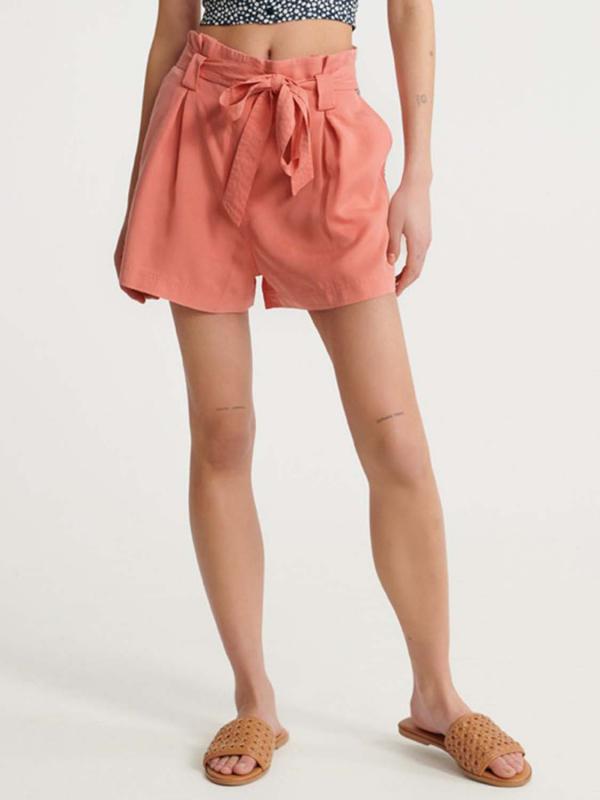 "Superdry Damen Shorts - ""DESERT PAPER BAG SHORTS POMEGR"""