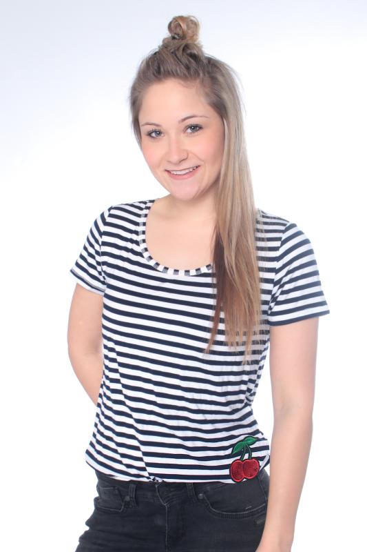 """STRANGE Damen T-Shirt - """"MAGDA navy-white"""""""