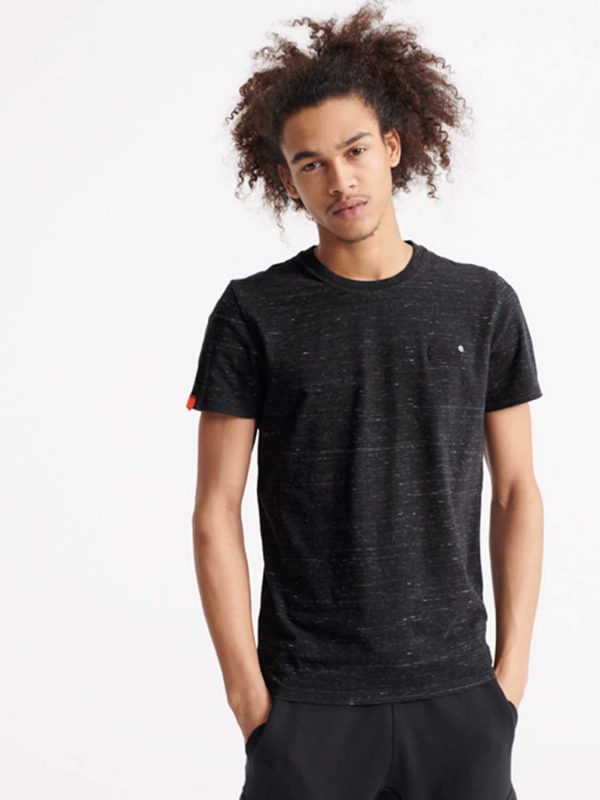 "Superdry Herren T-Shirt - ""OL VINTAGE EMB CREW VAST BLACK"""